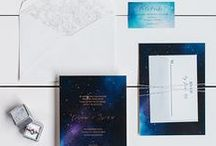 The Erin Suite - Wedding Inspiration / Our curated board of wedding inspiration to compliment the Erin Suite // Inclosed Letterpress Co. Custom Wedding Collection // Letterpress Invitations // Romantic + Glam + Galactic  // Wedding Inspiration