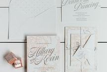 The Hillary Suite - Wedding Inspiration / Our curated board of wedding inspiration to compliment the Hillary Suite // Inclosed Letterpress Co. Custom Wedding Collection // Letterpress Invitations // Timeless + Classic + Romantic + Sweet  //  Wedding Inspiration