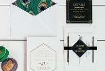 The Tara Suite - Wedding Inspiration / Our curated board of wedding inspiration to compliment the Tara Suite // Inclosed Letterpress Co. Custom Wedding Collection // Letterpress Invitations // Elegant + Ornate + Art Deco  //  Wedding Inspiration
