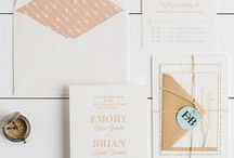 The Emory Suite - Wedding Inspiration / Our curated board of wedding inspiration to compliment the Emory Suite // Inclosed Letterpress Co. Custom Wedding Collection // Letterpress Invitations // Refined + Dapper + Adventurous  // Wedding Inspiration