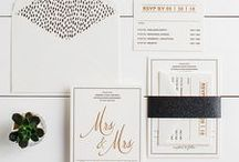 The Andrea Suite - Wedding Inspiration / Our curated board of wedding inspiration to compliment the Andrea Suite // Inclosed Letterpress Co. Custom Wedding Collection // Letterpress Invitations // Refined + Contemporary + Chic // Wedding Inspiration
