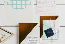 The Angeline Suite - Wedding Inspiration / Our curated board of wedding inspiration to compliment the Angeline Suite // Inclosed Letterpress Co. Custom Wedding Collection // Letterpress Invitations // Modern + Colorful + Urban // Wedding Inspiration