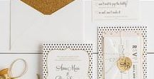 The Anna Suite - Wedding Inspiration / Our curated board of wedding inspiration to compliment the Anna Suite // Inclosed Letterpress Co. Custom Wedding Collection // Letterpress Invitations // Sophisticated + Flirty + Glam // Wedding Inspiration