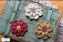 crochet flowers and leaves / crochet flores y hojas
