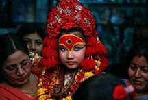 Vo'ye - the Newar feast / Indra Jatra is one of the biggest celebrations in Kathmandu. The Kumari makes her rare appearance in public, makes a tour on a two km route in Kathmandu, and there are cultural dances, and always a grand feast.