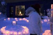 "The village of the 1000 ice lanterns / A Guinness World of Records®  in ""Largest Ice Lantern Display"" was taking place in Vuollerim February 5th 2013, with 2 651 ice lanterns!"