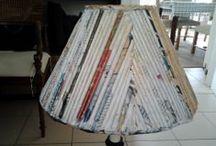 Lampen / Kreativ mit Zeitungspapier