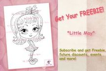 FREEBIE / Free digital stamps #freebie #free #giveawey