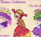 The Venice Collection. Digital Stamps / Digital stamps for coloring. Set of 6 Digital Stamps, Stamp Sets, Digi stamp, Venice, Girl stamp, Venice stamp, Mask stamp, Gondola. The Venice Collection. #coloring #digitalstamps #crafting #draw #Venice #Venetian #parercrafting #cardmaking