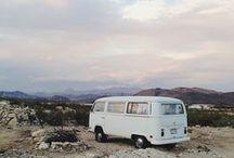 Sur la route // On the road / voitures, vans, road trip et jolies routes