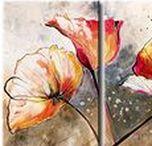 Déco fleurs / Apportez une touche fleurie à votre intérieur avec une décoration moderne et tendance. Voici la sélection de tableaux déco, papiers peints, stickers muraux et paravents décoratifs avec de fleurs - coquelicots, tournesols, tulipes, orchidées, magnolias... Invitez l'été et printemps chez vous !