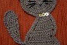 aplikace pletené a háčkované