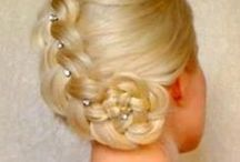 Hairstyles / Hairstyles make-up scarfes