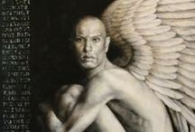 Wings and Feathers / In religion, wings appear on angels, faeries, spirits and demons. In mythology, winged creatures are often messengers of the gods; they are a symbol of freedom and spirituality . A character having one wing is said to be lost in dreams.
