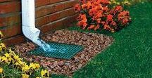 Water Management / Pooling water can cause major issues to your home's foundation. Prevent flooding and water from enter your home with proper drainage and water diversion. See our entire line of landscape and drainage products at GreyDock.com!