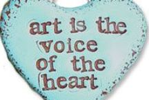 Art pieces / Art is displayed in many forms, using various mediums. To love Art in all it's formations , is to see, feel and sense with the eyes of one's own heart.