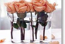 Small center pieces/Centros de mesa pequeños / Bellos arreglos para cualquier ocasión, cumpleaños, bodas, bautizos, fiestas, conferencias y más.