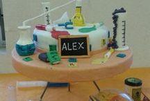 Scientific birthday party / Preparando la fiesta de cumpleaños de Alex.  9 años.
