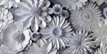 Wedding and Event Backdrops by Paper Flower Company / Flowers created from paper and card to create on trend wall art and backdrops for events.