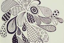 Hand Lettering Doodles / Eine Sammlung von Schnörkeln und Doodles zum Nachzeichnen