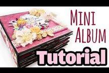mini-Album VIDEO Tutorials / Video Anleitungen für DYI mini-Alben