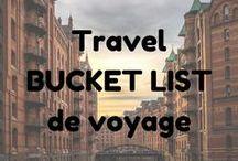 Travel - Bucket list - de voyage / Des destinations voyages qui nous font rêver.  Travel destinations that make us dream.  #bucketlist #travelbucketlist #travel #voyage #dream