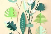 Papierpflanzen / Pflanzen aus Papier gestalten