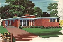 Frank Lloyd was Right! / Mid century-esque architecture, living & working spaces.