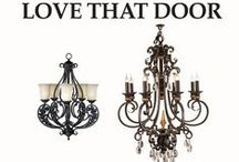 Iron Lighting & Fixtures / Hand-forged iron chandeliers, ligth fixtures, sconces, pendant lighting, birdcages, iron light base for ceiling fans