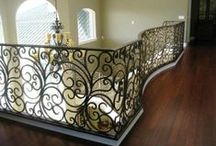 Wrought Iron Stairway Railing / Stairway railings serve more than a functional purpose. Often, they're what give stairs a visual presence and make a staircase a work of art. Find ideas for the perfect railing for your stairway.