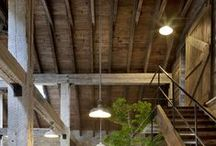 Rustic Inspiration / Craftsman and Barn Homes.  Rustic aesthetic interiors, exteriors, and decor