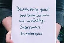 The Power of Introverts / Stories from the Quiet Revolution community. The perfect place to feel at home.