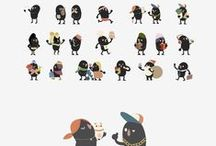 stickers - character design