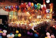 Decoración de Fiesta / party fiesta decoracion globos luces velas  / by Desiree F
