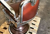 Restored Antique Barberchairs / Restored Antique Barber Chairs from the late 1890's through the 1950's. chairs by Koken, Paidar and Theo A. Kochs.