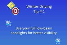 Winter Driving Tips / Winter Driving - How to drive in Canada in the winter.  Driving tips from driving school Young Drivers of Canada https://www.yd.com
