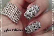 Unhas Carimbadas / Nails Art Stamping 01