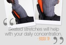 WORK / If you sit in front of a desk at work all day, the bodybolster is perfect to ensure perfect posture and ultimate concentration