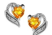 November Citrines / Citrine jewellery gift ideas for loved ones with birthdays in November!