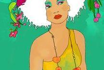 motifs personnages / by iguane vert
