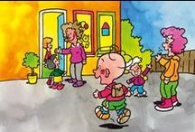 Nei skoalle / naar school / Aktiviteiten by it tema Nei skoalle/It bernesintrum/  Activiteiten bij het thema Naar school/het kindercentrum