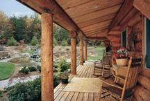 Wooden terraces, porches, patios
