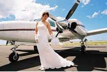Planes + Brides + Helicopters / Photos of Brides and Grooms with planes and Helicopters / by Hawaiian wedding coordination