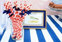 Nautical Inspired Event / Summer goes hand in hand with images of anchors, billowing sails, and navy stripes. Get inspired for your next Nautical Themed Event.