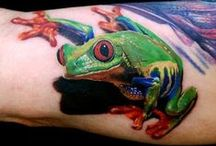 Tattoos Amphibien
