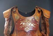 armaduras, trabalhos de couro e afins