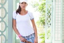 Geo Collection / Women's tennis clothes & activewear featuring unique feminine designs,  a flattering fit, and top quality fabrics that can be worn on and off the tennis court. Inspiration, work in progress and outcomes - Geo Activewear Collection by Denise Cronwall.