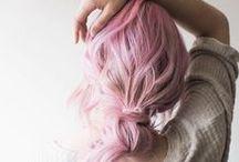 colourful hair.