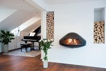 Minimalistic fireplaces