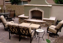 Landscape Fire Features / Fire features for your landscaping include fireplace, fire pits, barbecues and much more. - www.lonestaraz.com